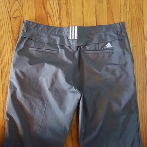 Adidas Mens nylon pants size 38x84 3 bar.  Gray.